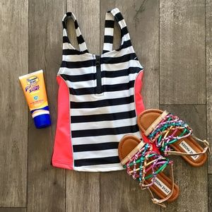 NWT Cat & Jack striped bathing suit top